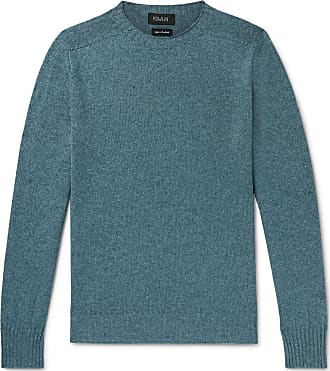 a00af2cedab646 Howlin Mélange Lambswool And Cotton-blend Sweater - Blue