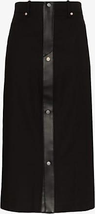 Zilver Womens Black Faux Leather Trim Pencil Skirt