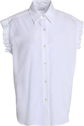Tome Tome Woman Lace-up Ruffle-trimmed Cotton-poplin Shirt White Size 4