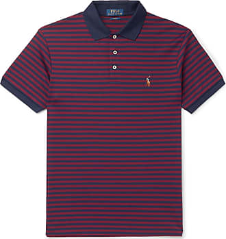 cbf3de25fb Polo Ralph Lauren Slim-fit Striped Cotton-jersey Polo Shirt - Burgundy