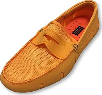 Swims Penny Loafers in Mandarin Orange 7.5