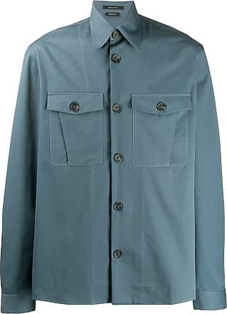Qasimi chest pockets shirt - Blue