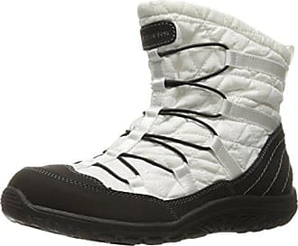 42b3735cc64c5 Skechers Womens Reggae Fest Steady Quilted Bungee Ankle Bootie,White/Black,7.5  M