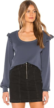 Chaser Baby Rib Ruffle Pullover in Blue