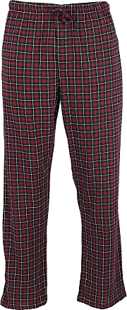 Hanes Mens Big & Tall Cotton ComfortSoft Printed Knit Pants, 5X, Red