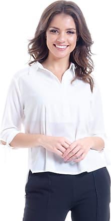 101 Resort Wear Camisa 101 Resort Wear Crepe Polo Manga 3/4 Off White (M)