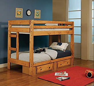 Coaster Fine Furniture 400837 CO-400837 Wrangle Hill Trundle with Bunkie Mattress, Amber Wash