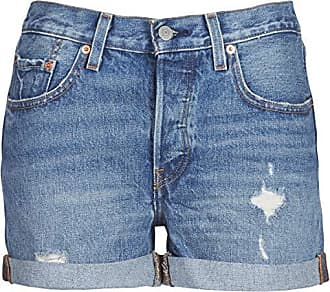 6cf269cdf68 Levi's 501 Short Long Pantalones Cortos, Azul (Highways + Byways 0005), W32