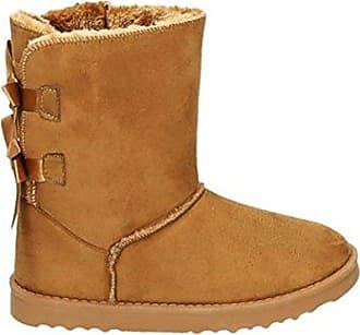 0524aeeb594f1f King Of Shoes Damen Stiefeletten Schnee Stiefel Boots Flache Schlupfstiefel  Warm Gefüttert Winter Schuhe 783 (