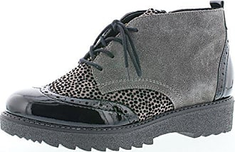 Remonte Damenschuhe R0570 Damen Stiefeletten, Stiefel, Boots Grau Kombi  (Schwarz Grau  9a051b2354