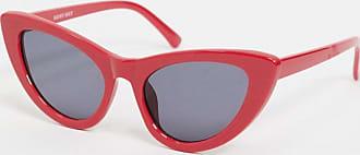Noisy May Occhiali da sole cat-eye rossi-Rosso
