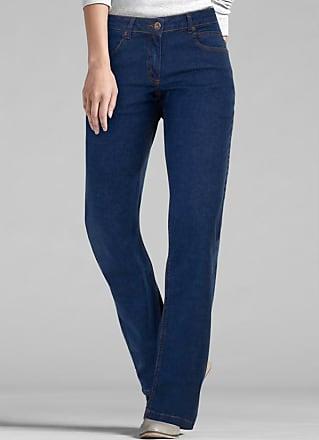 20b9c3d9d3 Bonprix Calca Jeans Boot Cut-Perna Larguinha Azul Escuro