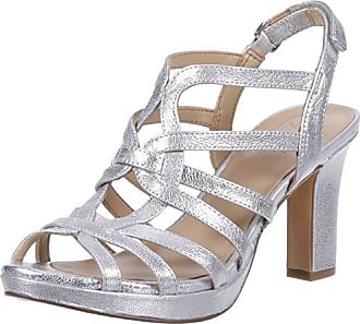 Naturalizer Womens Flora Heeled Sandal,Silver,6.5 M US
