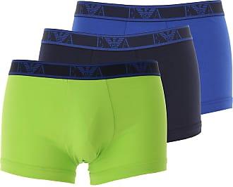 Emporio Armani Intimo Boxer da Uomo On Sale, 3 Pack, Lime, Cotone, 2019, L XL