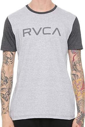 Rvca Camiseta Rvca Big Color Cinza/cinza Escuro