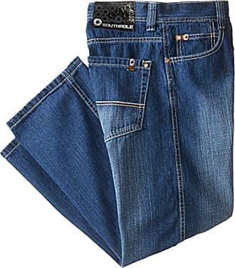 Southpole Mens 4180 Relaxed Fit Cross Hatch Blast Denim in Medium Blue Sand, 29x30