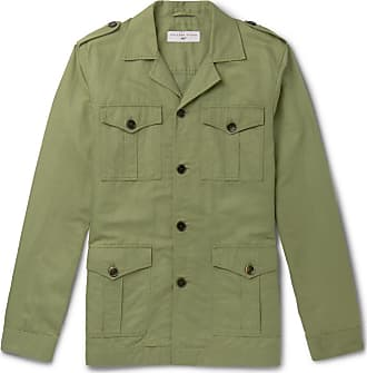 Orlebar Brown + 007 The Man With The Golden Gun Cotton And Linen-blend Twill Jacket - Green
