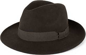 Hat To Socks Wool Trilby Fedora Hat Handmade in Italy (Brown, S)