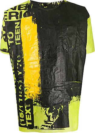 Raf Simons Camiseta Graffiti - Amarelo