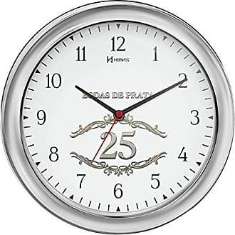 Uhren Herweg RELÓGIO DE PAREDE ANALÓGICO BODAS DE PRATA DECORATIVO HERWEG CROMADO