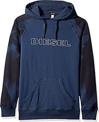 Diesel Mens UMLT-Brian Hooded Sweat-Shirt, Blue Night XL