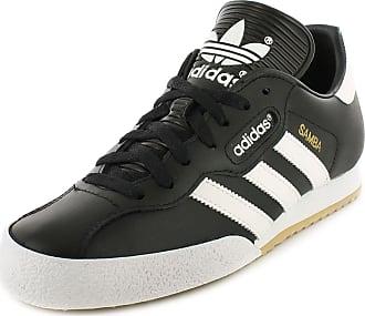 adidas Originals Samba Super Mens Leather Material Running Trainers Black/White - 10.5 UK