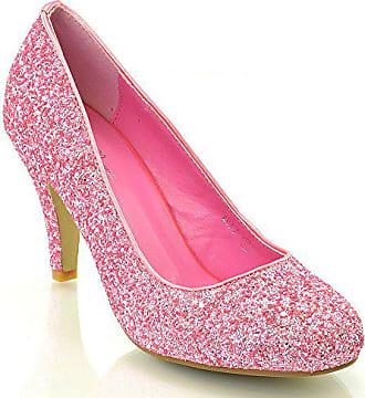 eea046a148223e ESSEX GLAM Damen Braut Hochzeit Glitzer Klassische Pumps Party Schuhe (36