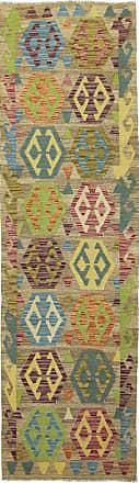 Nain Trading 291x84 Oriental Kilim Afghan Rug Runner Brown/Light Blue (Wool, Afghanistan, Handwoven)
