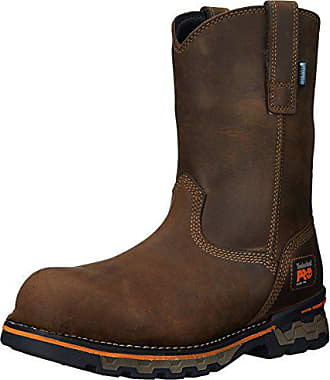 Timberland PRO Mens AG Boss Pull-On Alloy Toe WP Work and Hunt Boot, Brown Distressed Leather, 10.5 M US