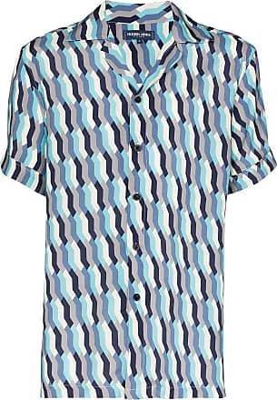 Frescobol Carioca Camisa com estampa mosaico Fresco - Azul