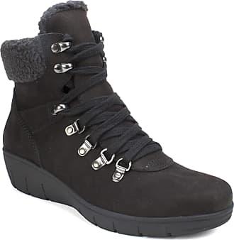 White Mountain Womens Emory Fashion Boot, Black/Nubuck/Leather, 7.5 UK
