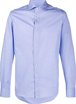 Canali Camisa slim lisa - Azul
