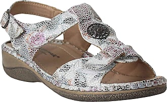 Cushion-Walk Womens Ladies Twin Touch Fasten Sling Back Floral Summer Beach Fashion Sandals Sizes UK 3-8 (Floral, Numeric_7)