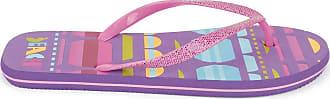 Urban Beach Ladies Sunset Flip Flops Sandals FW580 (Size 3, Dark Purple)