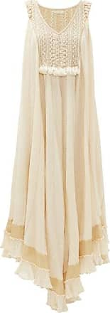 Mes Demoiselles... Chibca Embroidered And Tasselled Dress - Womens - Cream