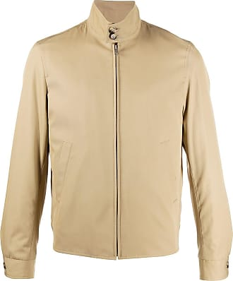 Sandro Harrington buttoned collar jacket - NEUTRALS