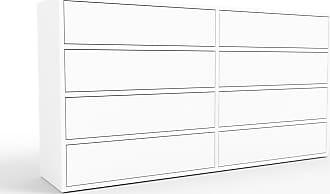 MYCS Kommode Weiß - Design-Lowboard: Schubladen in Weiß - Hochwertige Materialien - 152 x 80 x 35 cm, Selbst zusammenstellen