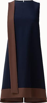 Akris Sleeveless Crêpe Sheath Dress with Contrast Front