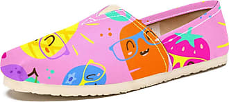 Tizorax Cartoon Vegetables and Fruits in Glasses Mens Slip on Loafers Shoes Casual Canvas Flat Boat Shoe