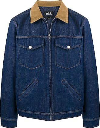 A.P.C. Jaqueta jeans mangas longas - Azul