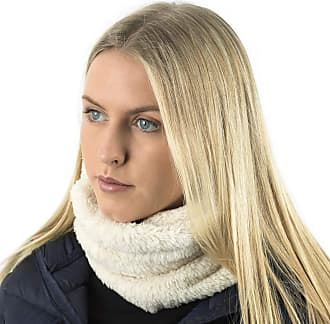TOSKATOK Unisex Mens Ladies Kids Cosy Warm Snug Teddy Fur Fleece Ultra Soft Microfibre Dense Pile Balaclava Hood Snood Neckwarmer - CREAM