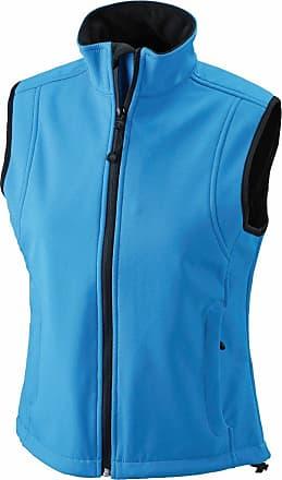 James & Nicholson JN138 Ladies Softshell Gilet Bodywarmer Aqua Size XL