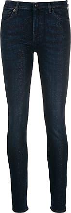 7 For All Mankind Calça jeans skinny com brilho - Azul