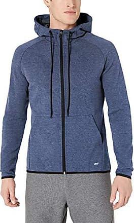 Charcoal Grey Heather X-Small Essentials Mens Tech Fleece Full-Zip Hooded Active Sweatshirt
