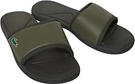 Lacoste slider sandals with fabric strap