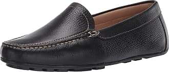 Driver Club USA Womens Leather Made in Brazil Driving Loafer with Venetian Detail, Black Grainy/Contrast Stitch, 5.5 UK