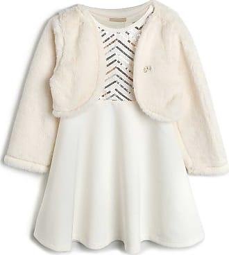 Milon Vestido Milon Infantil Paetê Off-White