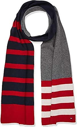 Tommy Hilfiger Seasonal Stripe Scarf, Echarpe Homme, Rouge (Corporate 901),  Unique d485831d0fa