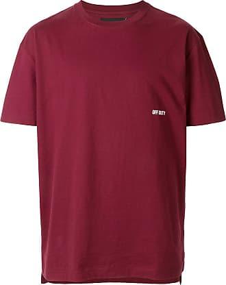 Off Duty Camiseta Detachement com logo - Vermelho