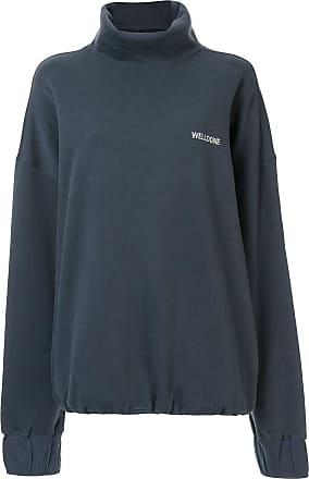 We11done Sweatshirt mit Rollkragen - Blau